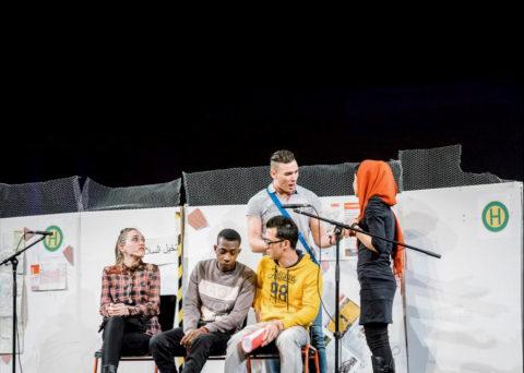 Theater-Stück Fluchtgeschichten aus Berg. Gladbach