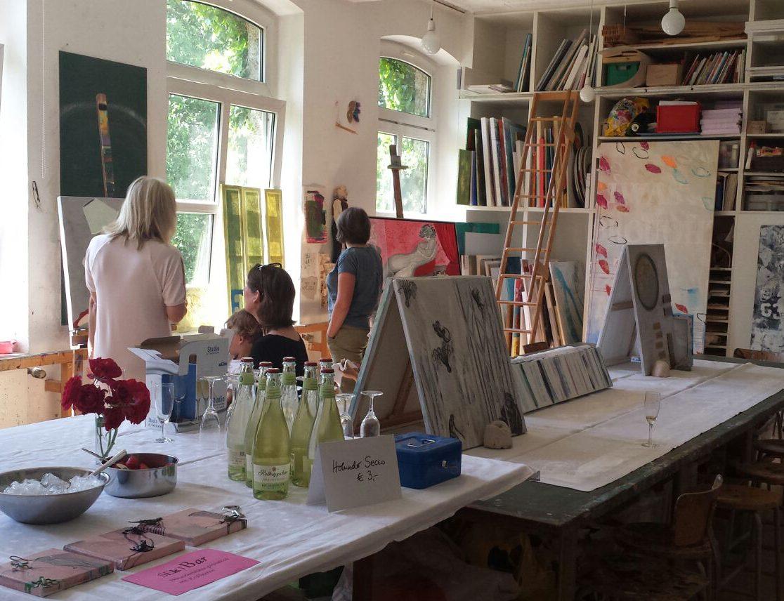 Ausstellung im offenen Atelier der Kreatiivitätsschule