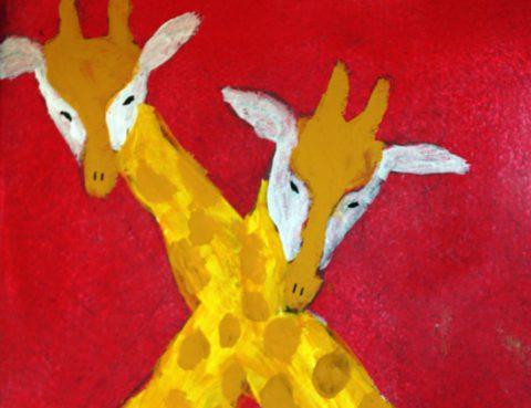 Malerei Giraffen - Zeichenkurs für Jugendliche