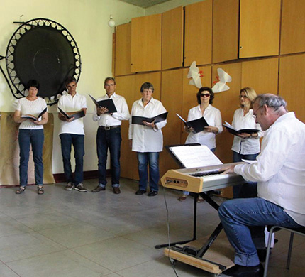 Der Krea-Chor bei den Proben