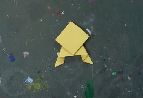 Origami Frosch
